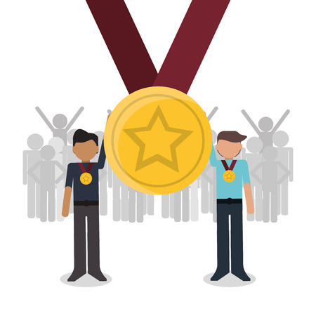 Competition concept with winner icon design, vector illustration 10 eps graphic. Illustration