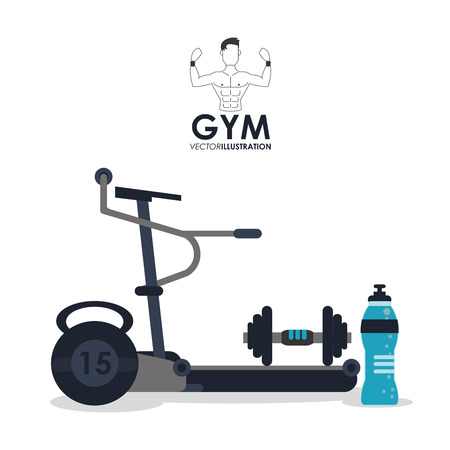 exercising: Gym concept with fitness icon design, vector illustration 10 eps graphic.