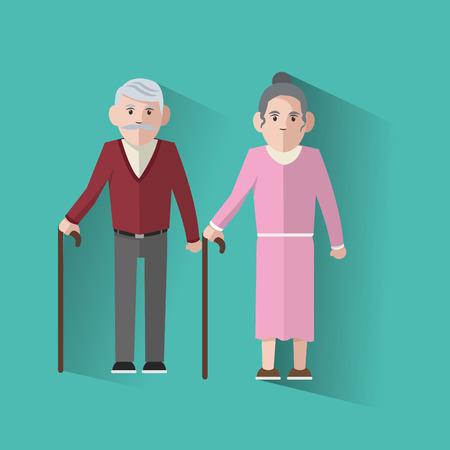 Großeltern Konzept mit alten Menschen Design, Vektor-Illustration 10 EPS-Grafik.