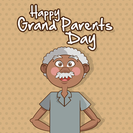 age old: Grandparents concept with old people design, vector illustration 10 eps graphic.