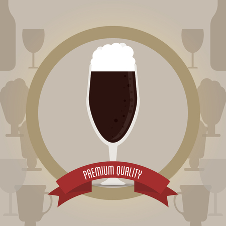 fresh brewed: Menu concept with beer icons design, vector illustration 10 eps graphic.