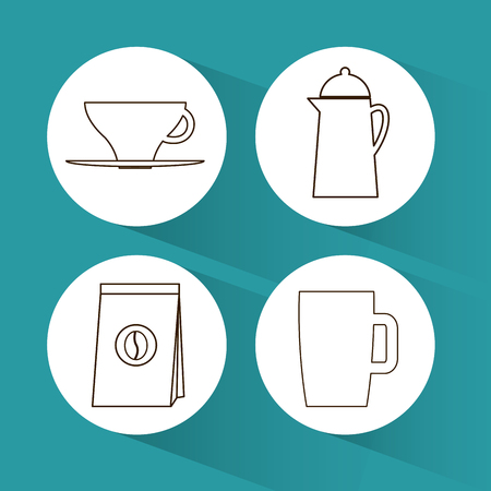 caffeine: Coffee concept with icon design, vector illustration 10 eps graphic.