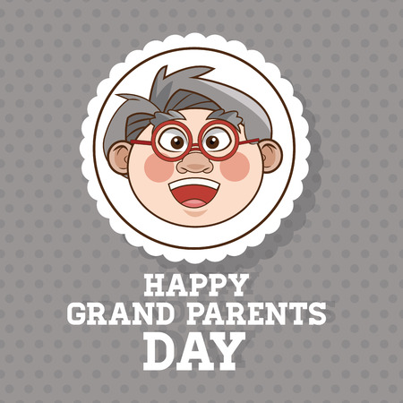 retired: Grandparents concept with old people design, vector illustration 10 eps graphic.
