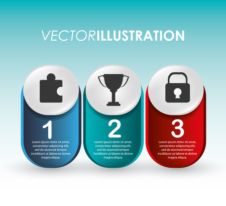 infomation: Infographic concept with steps icons design, vector illustration 10 eps graphic.
