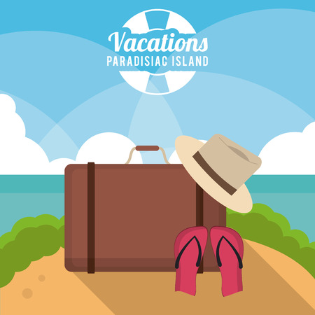 Vacations concept with summer icons design