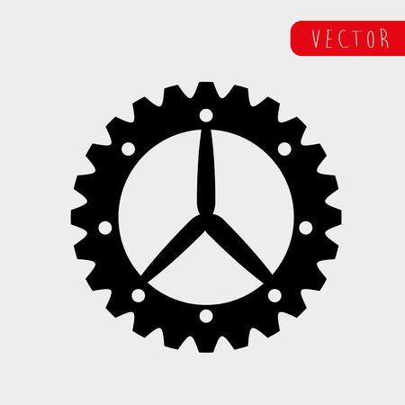 machine part: Machine part concept with gear icon design, vector illustration 10 eps graphic.