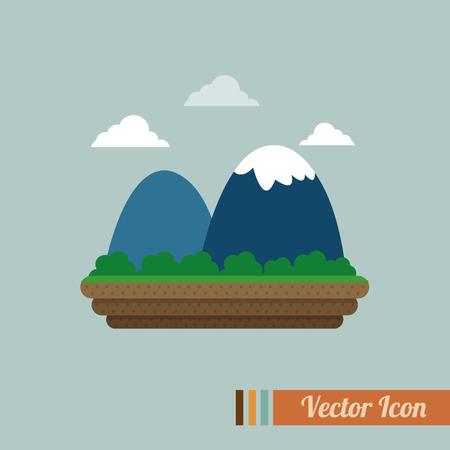 river rock: mountain icon design on white background Illustration