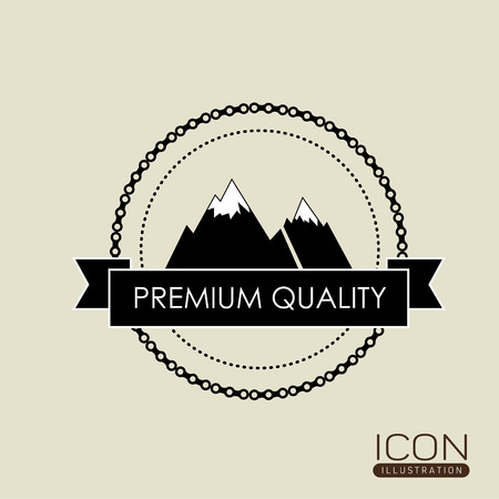 commitments: Premium Quality concept with seal stamp icon design