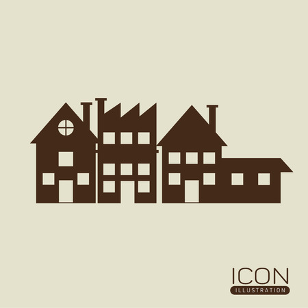 houses: Real estate  concept with houses  icon design
