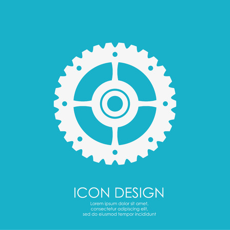 machine part: Machine part concept with gear icon design