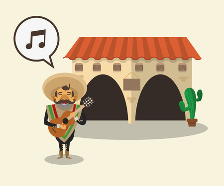 famous people: Mexico  concept with culture icon design Illustration