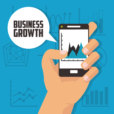 businessperson: Business concept with growth icon design Illustration