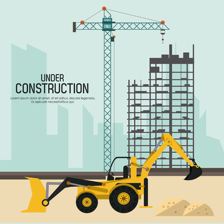 rebuilding: Under construction concept with tools icon design