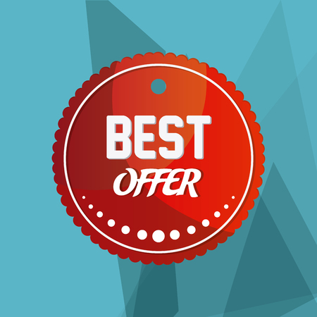 10 best: Best offer concept with quality icon design, vector illustration 10 eps graphic. Illustration