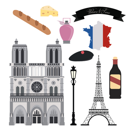 perfum: France concept with culture icons design, vector illustration 10 eps graphic.