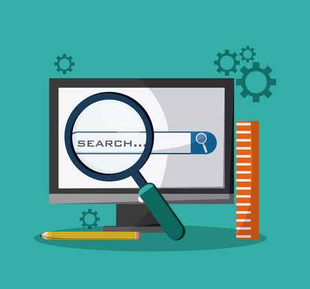 SEO concept with searching icons design, vector illustration 10 eps graphic.