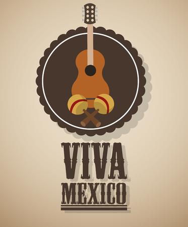 Mexico  concept with culture icon design, vector illustration