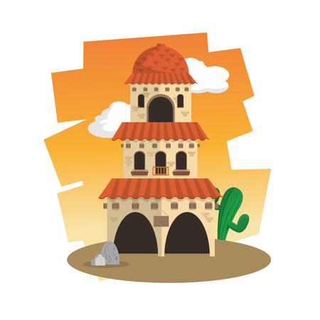 hispanics: Mexico  concept with culture icon design, vector illustration