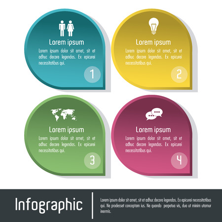 infomation: Infographic concept with searching icons design, vector illustration Illustration