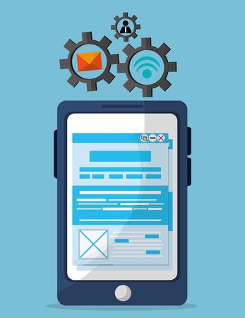 developer: Developer concept with technology icons design, vector illustration Illustration