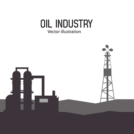 petrochemical plant: oil industry concept with plant icons design, vector illustration 10 eps graphic. Illustration