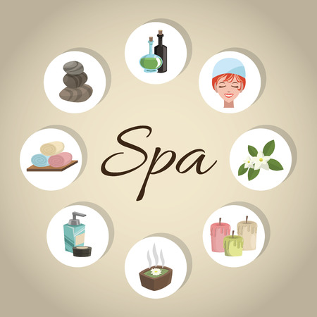 natural beauty: Spa center concept with icons design, vector illustration 10 eps graphic.