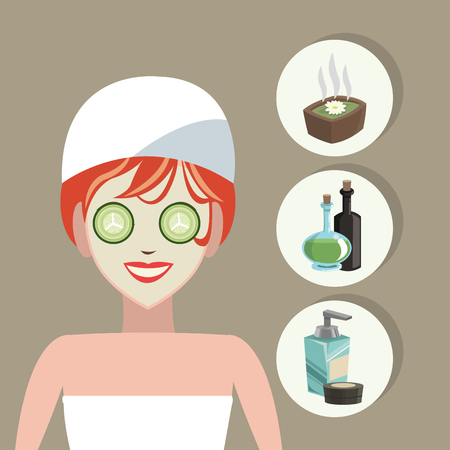 pampering: Spa center concept with icons design, vector illustration 10 eps graphic.