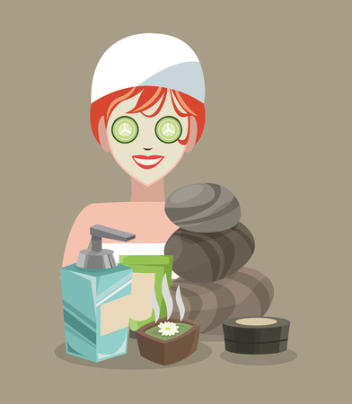 retreat: Spa center concept with icons design, vector illustration 10 eps graphic.