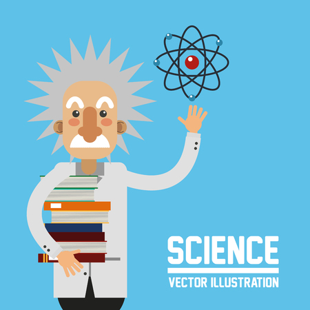 einstein: Science  concept with chemistry icons design, vector illustration 10 eps graphic.