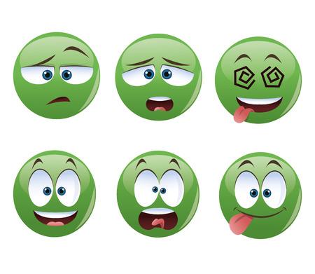 Cartoon concept with face icon design