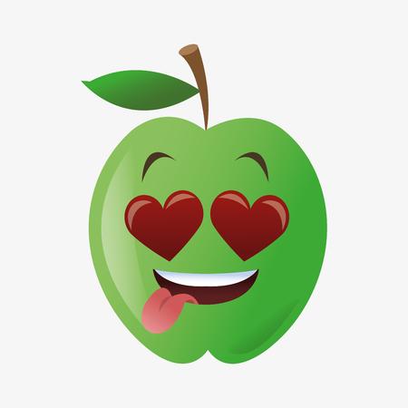 market gardening: Fruit concept with apple icon design
