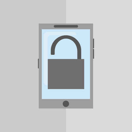Security concept with icon design Illustration