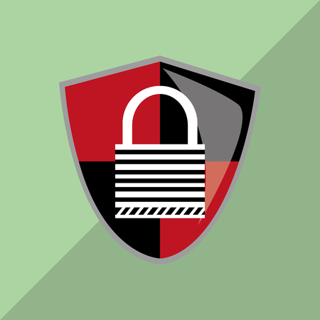 trajan: Security concept with icon design Illustration