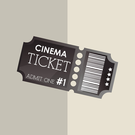 arts: Ticket concept with icon design Illustration