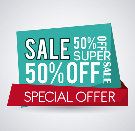 offer icon: Discount concept with special offer icon design Illustration