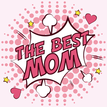 explotion: mothers day concept with icon design, vector illustration 10 eps graphic.