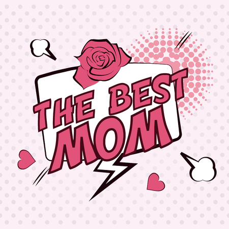 mom and pop: mothers day concept with icon design, vector illustration 10 eps graphic.