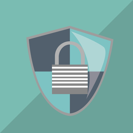 trajan: Security concept with icon design, vector illustration 10 eps graphic.