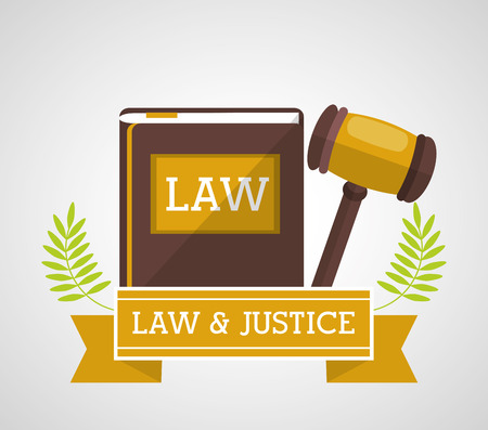 judicial system: Law concept with justice icon design, vector illustration 10 eps graphic.