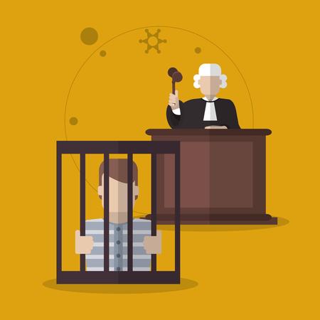 Law-Konzept mit Gerechtigkeit Icon Design, Vektor-Illustration 10 EPS-Grafik.