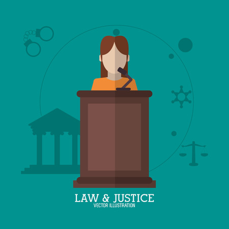 arts system: Law concept with justice icon design, vector illustration 10 eps graphic.