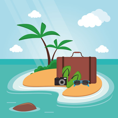 sandal tree: Travel concept with icon design, vector illustration 10 eps graphic.