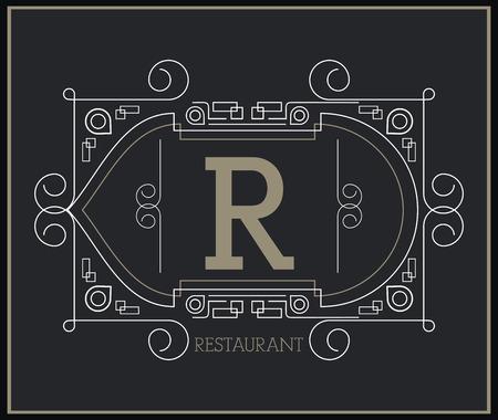 r image: Monogram concept with premium icon design, vector illustration 10 eps graphic.