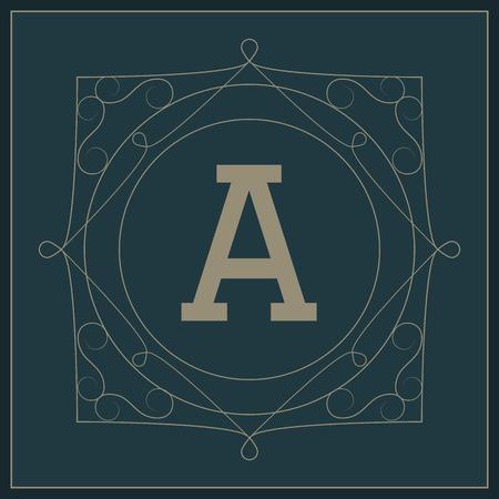 round logo: Monogram concept with premium icon design, vector illustration 10 eps graphic.