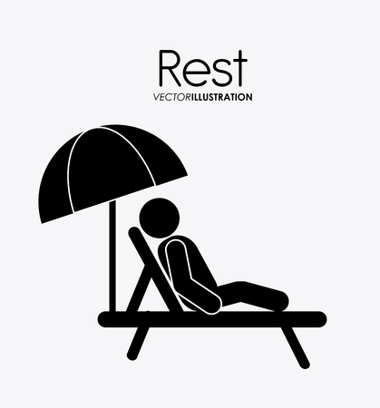 Rest concept with tired icon design, vector illustration 10 eps graphic.