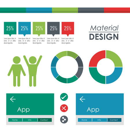 material: Material concept with icon design