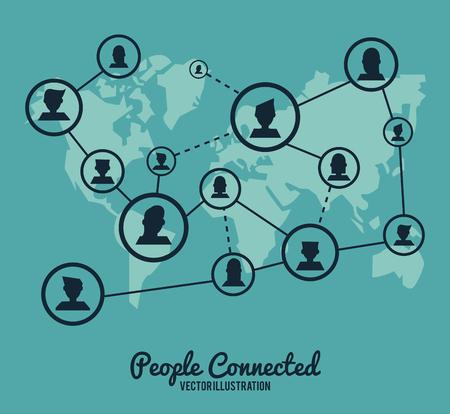 Concepto de las personas con el diseño de iconos red social