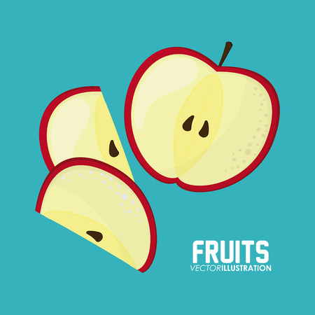 market gardening: Healthy food concept with fruits icon design Illustration