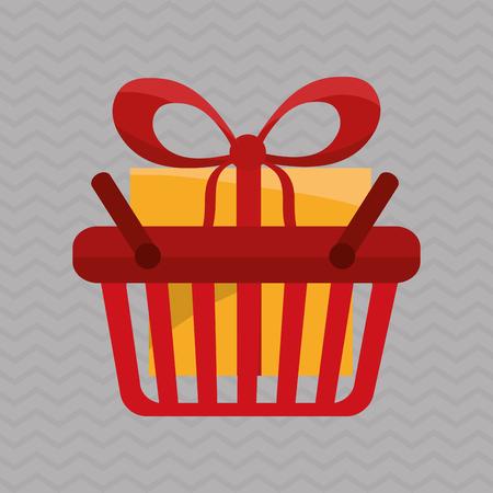 Shopping concept with icon design Illusztráció