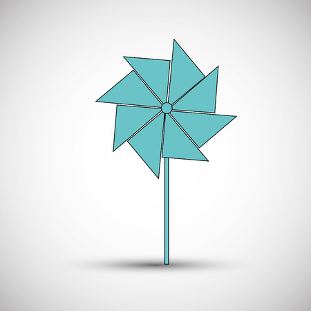 wind mill toy: toys concept with icon design, vector illustration 10 eps graphic. Illustration